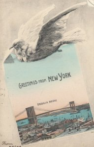 NEW YORK CITY, 1908 ; Brooklyn Bridge