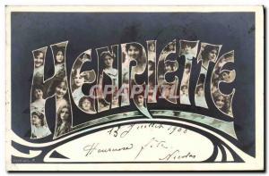 Old Postcard Fancy Henriette Surname