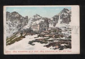 071677 Czechia Tatra Tery Schutzhaus bei funf Seen