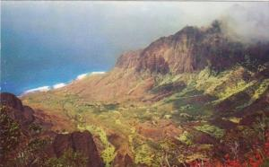 Hawaii Kauai Kalalau Valley From Kalalau Lookout