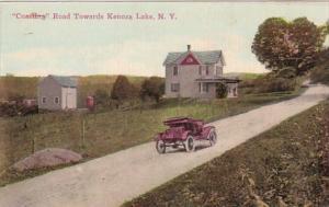 New York Kenoza Lake Coasting Road