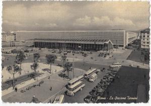Italy, Italia, Roma, La Stazione Termini, Terminus Station Square, Postcard