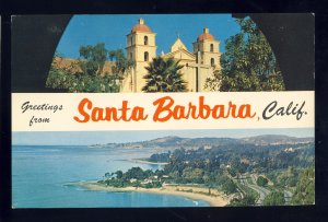 Santa Barbara, California/CA Postcard, Multi-View, Aerial Scene & Mission
