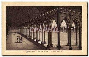Old Postcard Mont Saint Michel Cloitre