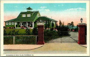 1920s PHOEBUS Hampton, Virginia Postcard CHAMBERLIN GOLF CLUB Clubhouse View
