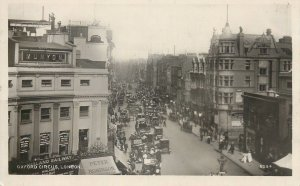 England London Oxford Circus classic vintage cars heavy traffic Postcard