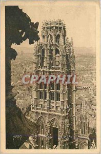 Old Postcard Rouen The Butter Tower