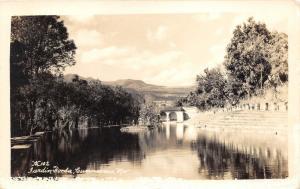 Guernavaca Morelos Mexico~Jardin Borda View~1930s RPPC-Postcard