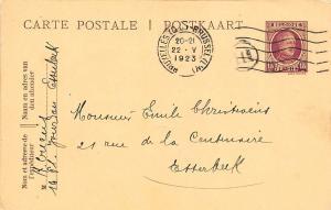 Belgium Postkaart Carte Postale Bruxelles 1923