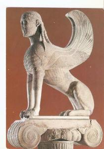 Postal 024322 : Delphi Museum. The Sphinx of the Naxians