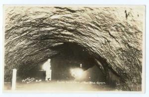 RP Inside Lava Cave near Bend Oregon OR
