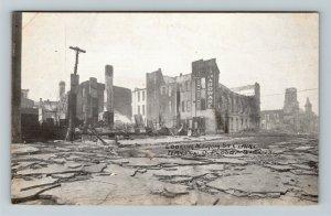 Dayton OH, Looking North St Clair, Flood Ruins, Vintage Ohio c1913 Postcard