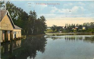 Boat Landing Cumberland Wisconsin WI 1913 Divided Back