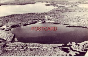 1948 RPPC - AERIAL VIEW OF HAYWARD, WIS LAKE SECTION