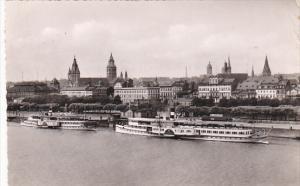 Germany Mainz Blick auf die Dampferanlegestelle 1955 Photo