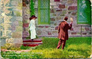 Vtg Postcard Cargill Couples He Raised His Hand and Then She Smiled