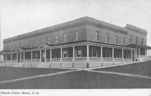 Minot North Dakota~Dinnie Flats Hotel~Then Apartments~Broadway & Burdick~1908 PC