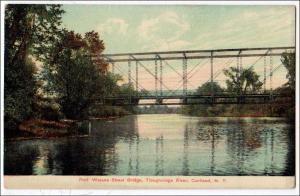 Port Watson St Bridge, Tioughnioga River. Cortland NY