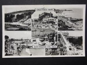 Essex SOUTHEND ON SEA 5 Image Multiview c1961Old RP Postcard by Masons