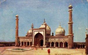 India - Delhi. The Jumma Musjid    (Tuck)