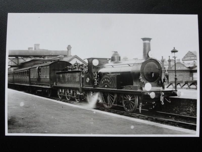LBSC Steam Locomotive No 349 ALBANY - RP Photocard / HipPostcard
