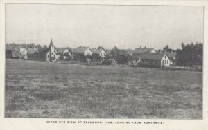 BELLWOOD , Illinois, 1900-10s , Bird's Eye View, Looking from Northwest
