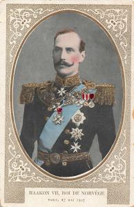 Norway Royalty Haakon VII Roi de Norvege Paris 1907 Postcard