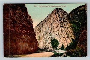 Ogden Canyon UT-Utah, The Narrows, Roadway, Bridge, Vintage c1913 Postcard