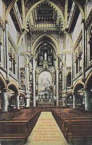 Interior of the Sacred Heart Chapel,Notre Dame Church, Montreal,Canada,PU-00-10s