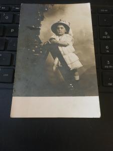 Vintage Postcard; Child and Christmas Tree, Circa 1900