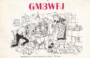 Blairgowrie Perthshire Scotland 1960s QSL Amateur Radio Punch Magazine Postcard