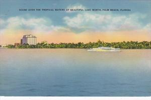 Florida Palm Beach View Of Lake Worth