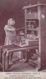 St Brides Institute London Woodwork Pressman OAP Industry Antique Postcard