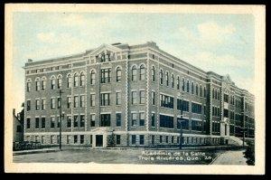 dc1312 - TROIS RIVIERES Quebec Postcard 1920s Academie de la Salle