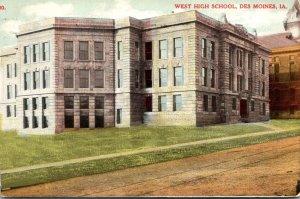 Iowa Des Moines West High School 1909