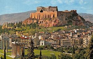 Greece Athenes L'Acropole vue de l'Olympeion Acropolis Panorama
