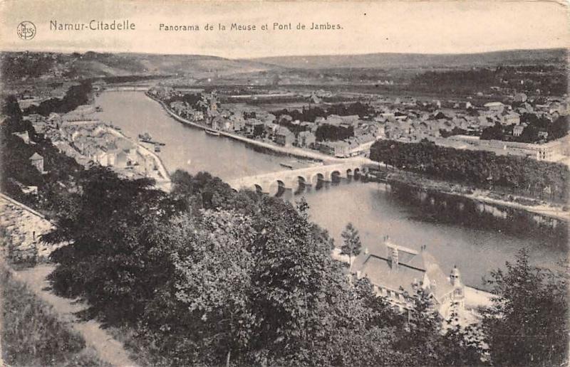 Belgium Namur-Citadelle Panorama de la Meuse et Pont de Jambes Bridge River