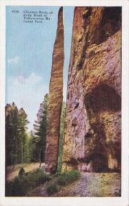 Chimney Rock On Road To Yellowstone National Park