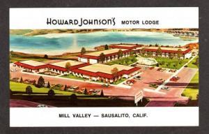 CA Howard Johnson's Motor Lodge Motel Sausalito California Calif  Postcard PC
