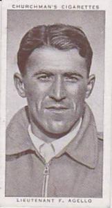 Churchman Vintage Cigarette Card Kings Of Speed Series No 1 Lieutenant F Agel...
