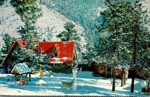 Colorado North Pole Santa's Workshop Village Winter Scene