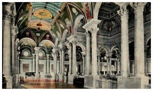 Washington D.C.  Central  Hall  2nd Flr. Library of Congress