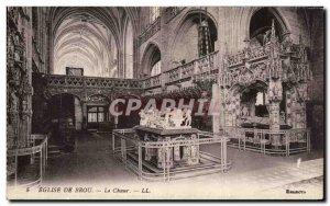 Old Postcard Brou Church Choir