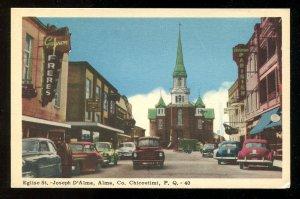 dc559 - CHICOUTIMI Quebec 1950s Street View. Sores, Cars. Postcard