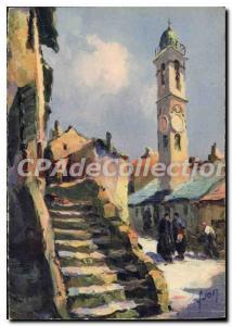 Modern Postcard Corsica Corte Church