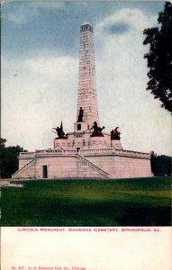 Springfield IL Lincoln Memorial Oakridge Cemetery Postcard unused (13864)