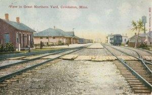 CROOKSTON , Minnesota ,1900-1910s ; Great Northern Railroad Train Yard