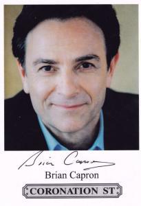 Brian Capron Richard Hillman Coronation Street Hand Signed Cast Card