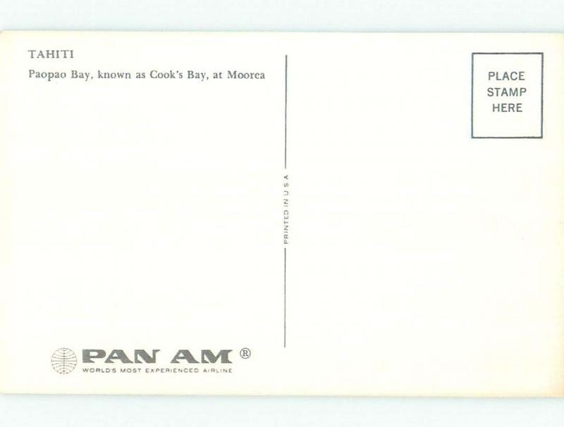 Pre-1980 NICE VIEW Cook'S Bay - Paopao At Moorea Tahiti i3987