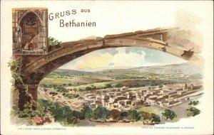 Gruss Aus Bethanien Bethlehem Jerusalem c1900 Postcard